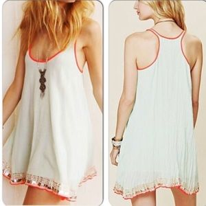 Free People Ariel Racer Mini Slip Dress Boho xs